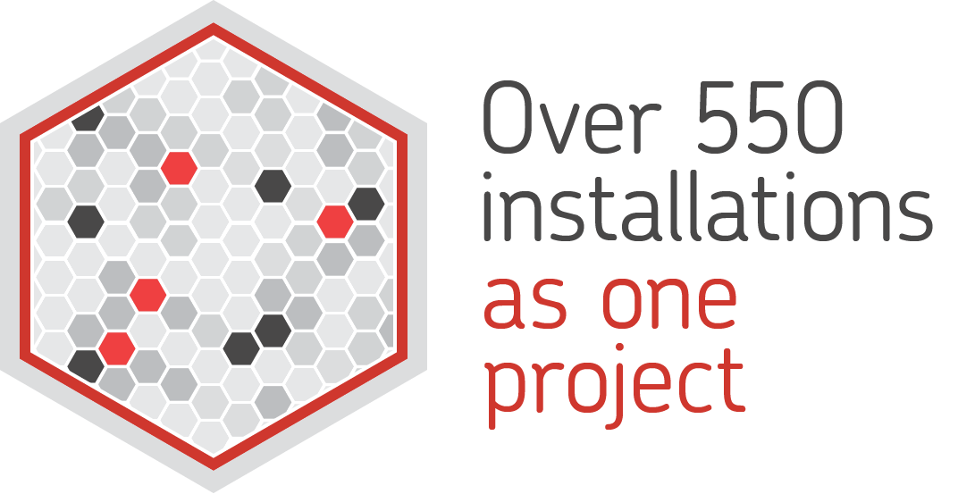 Over 550 installations as one project
